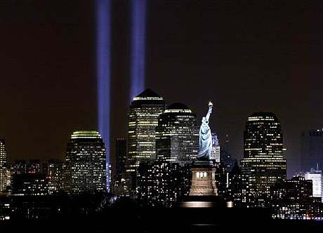 New York 911 Tribute in Light