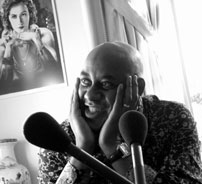 Ainsley Harriott recording on location in South London