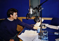 Dougray Scott in the studio
