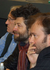 David Warner, Andy Serkis & Rupert Degas